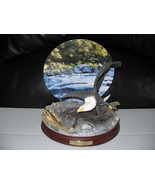 2001 Force Of Nature Eagle Figurine & Collector Plate - $29.99