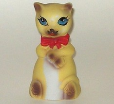Hand Painted Ceramic Matte Finish Kitten Siamese Cat Bell - $5.00