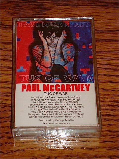 PAUL McCARTNEY TUG OF WAR CASSETTE