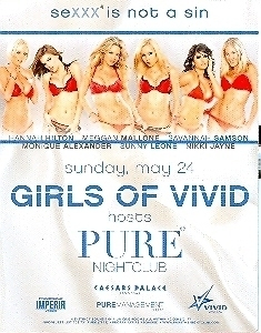 Primary image for Girls of Vivid Vegas @ PURE Nightclub Promo Card