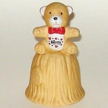 Hand Painted Knotts Berry Farm Ceramic Teddy Bear Bell - $5.00