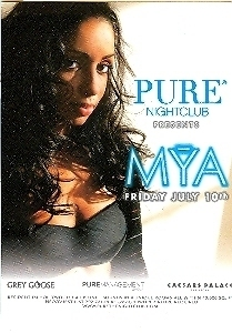 Primary image for MYA @ PURE Nightclub Vegas Promo Card