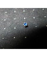NOSE STUD BLUE SAPPHIRE STAR BODY JEWELRY #849G - $6.99
