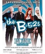 The B 52s @ PURE Nightclub Vegas Promo Card - $1.95