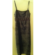 FREE PEOPLE grey velour embroidery long DRESS NEW size 5 NWT - $29.99