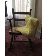 Yellow Hand Crocheted Baby Blanket - $40.00
