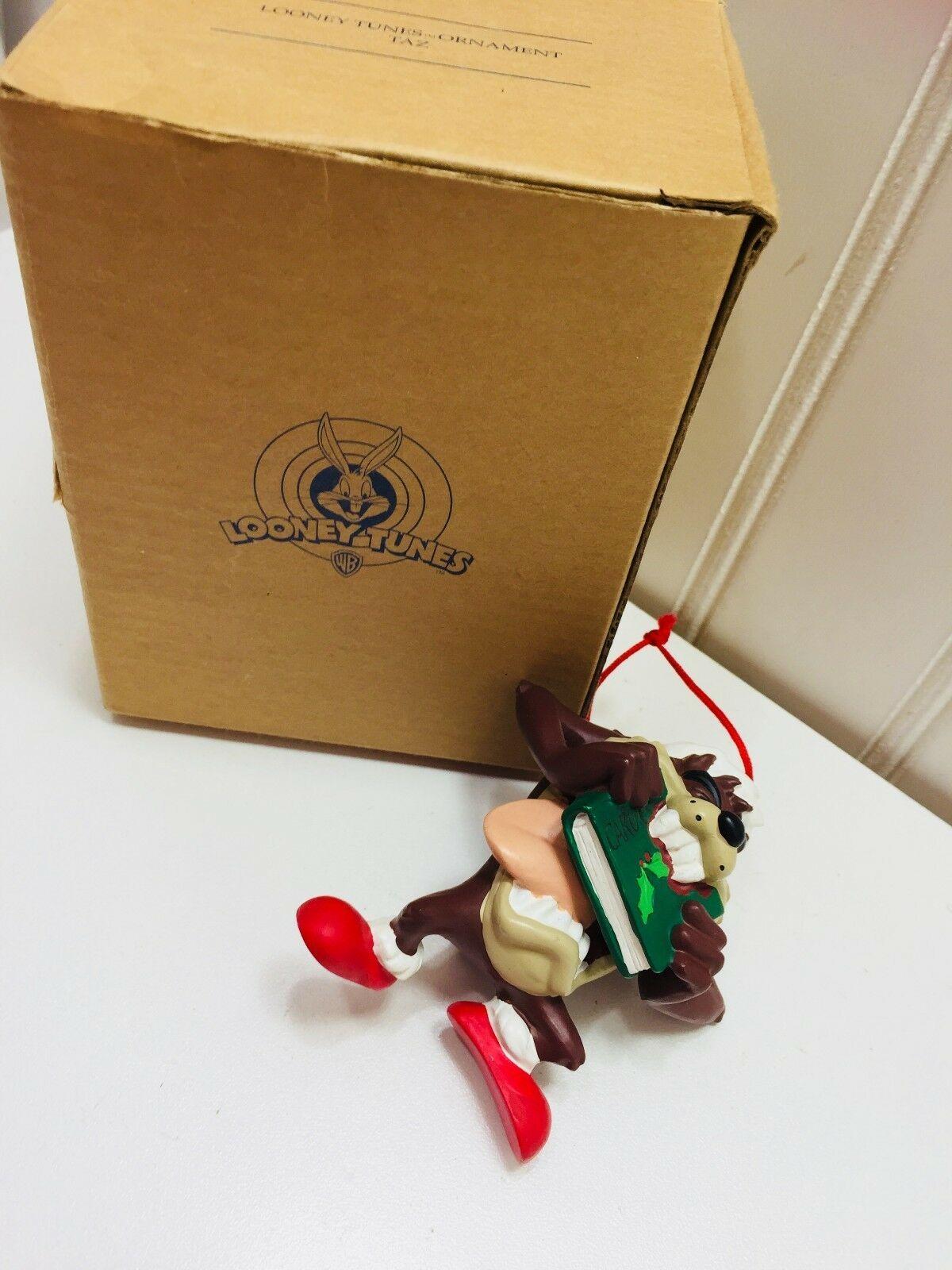 Avon Christmas Ornament Taz Eating Carols Looney Tunes 1998 Vintage 22717