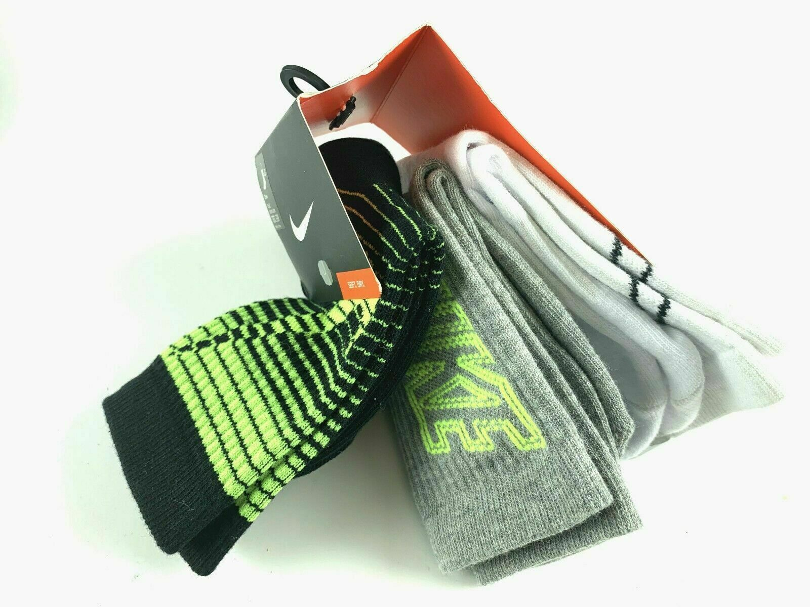 Nike Kids' Graphic Crew Socks 3 Pack 9C -13 C#311G