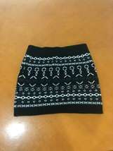 Girls Kid's It's Our Time Black White Geometric Short Skirt Size Small 6... - $4.94