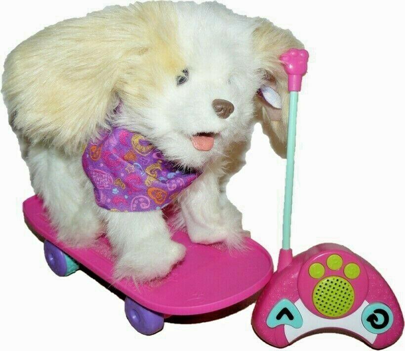 2012 HASBRO FurReal Friends Trixie Skateboarding Puppy Remote Control - $38.76