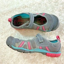 Keen Womens Sz 6 Mary Jane Gray Pink Green Shoes Flats Slip On 1013575 - $26.17