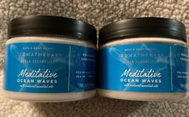 Bath & Body Works Bbw Aromatherapy Meditative Oc EAN Waves Body Scrub X2 - $49.99