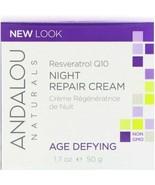 Andalou Naturals Resveratrol Q10 Night Repair Cream 1.7 oz  - $13.59