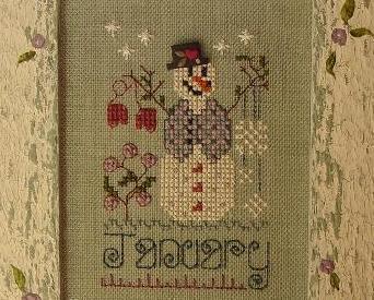 January A Year in Stitches cross stitch chart Shepherd Bush