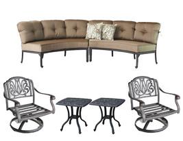 Las vegas conversation patio furniture Curved Sofa Elisabeth 2 Pc Club R... - $2,266.11