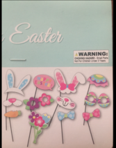 EASTER BUNNY SPRING PHOTO BOOTH PROPS EASTER EGG HUNT PARTY SUPPLIES SET... - $7.92