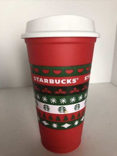 Primary image for STARBUCKS 2020 Reusable Cup Grande 16oz Red HOLIDAY Xmas Christmas Brand New