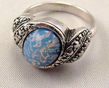 BEAUTIFUL MYSTERY STONE STERLING SILVER RING SIZE 7 NEW