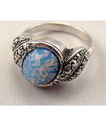 BEAUTIFUL MYSTERY STONE STERLING SILVER RING SIZE 7 NEW - $20.00