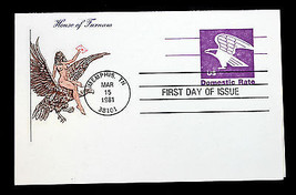 US Postal Card UX88 FDC with Reply House of Farnam Cachet 1981 - $5.99