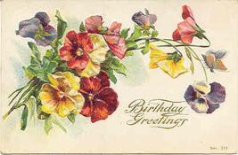 Birthday Greetings 1909 Vintage Post Card - $3.00