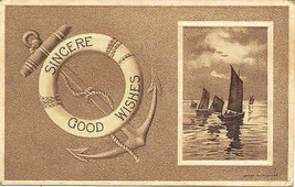 Sincere Good Wishes Vintage Post Card - $6.00