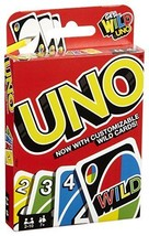 Mattel UNO Card Game Cards With Customizable Wild Card Free Shipping - $8.99