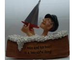 Sailor in Boat filled with Bubble Bath Boat Figurine