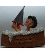 Sailor in Boat filled with Bubble Bath Boat Figurine - $13.00
