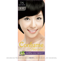 CONFUME HERBAL HAIR COLOR DYE - 1N BLACK - $9.99