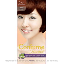 CONFUME HERBAL HAIR COLOR DYE - 6WN COCOA BROWN - $9.99