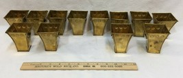 """Brass Planters 3"""" w/ Rings India Herb Succulent Pots Table Favors Lot 12... - $39.59"""
