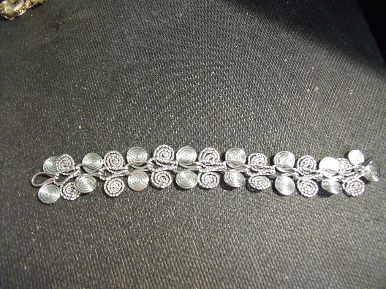 Silvertone Swirl Bracelet-Vintage