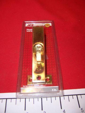 "4"" Solid Brass Flush Bolt 5300538"