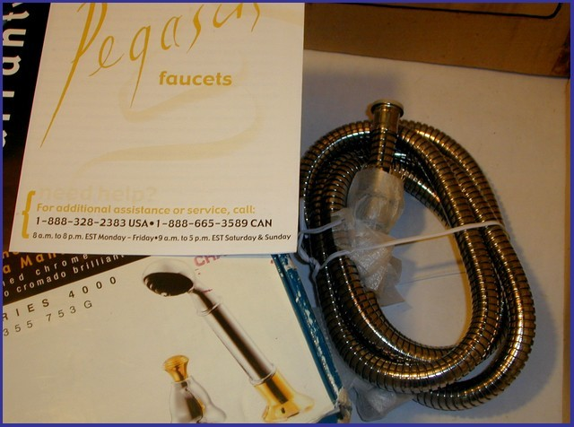 NEW TUB HAND SHOWER CHROME/Brass + DIVERTER PEGASUS 4000