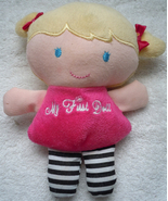 Baby Carters Child Of Mine Plush Blonde My First Doll Rattle  - $5.99