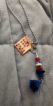 """Vote/election necklace-stamped copper with Obama's message """"don't boo, v... - $16.00"""