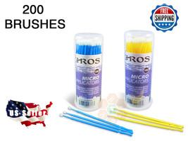 200pcs Eyelash Extensions Micro Brushes Disposable Swab MEDIUM/SMALL USA... - $12.89