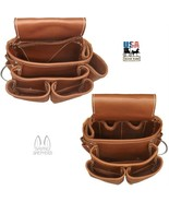 DELUXE LEATHER TOOL POUCHES - Amish Construction Left & Right Work Belt ... - $96.01+