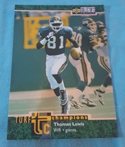 1997 Upper Deck Collector's Choice Turf Champions Thomas Lewis #TC30 - $1.00