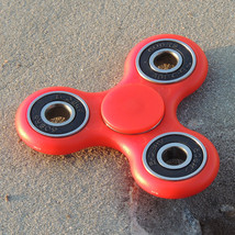 Spinner edc finger hand spinner focus anxiety stress relief desk toy red corner outside thumb200