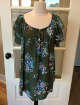Top Womens Generous Fit On Off Shoulder 0X Size 14W Tunic Shirt Peasant ... - $9.89