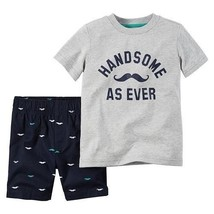 Carter's Infant Boys 2pc T-Shirt& Shorts Set Handsome As Ever Size 3M NWT - $12.60