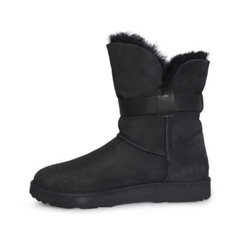 35d1a5fac77 Ugg Jaylyn Black Suede Sheepskin Buckle and 50 similar items