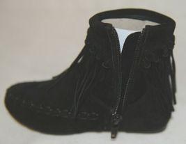 I Love Yo Kids AVA 92T Girls Fringe Boot Black Zip Up Size Seven image 9