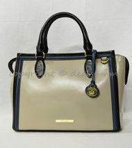 NWT Brahmin Schooner Smooth Leather Satchel/Shoulder Bag in Sand Westport image 10