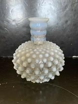 """Vintage Fenton Frosted Hobnail Glass Vase 4 1/2"""" - $10.00"""