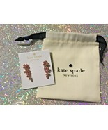 Authentic Kate Spade New York Flower Ear Pins Earrings  Light Pink New - $30.84