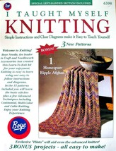 I Taught Myself Knitting by Boye Simple Instructions, Clear Diagrams & P... - $3.33