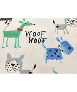 "Cute Doggie Dog Woof Woof Curtain Valance Window Topper Cotton Retro 43""... - $11.87"